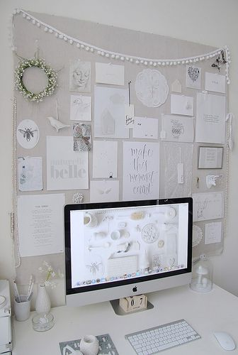 all #white work space details