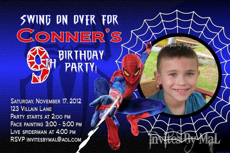 spiderman birthday party invitations