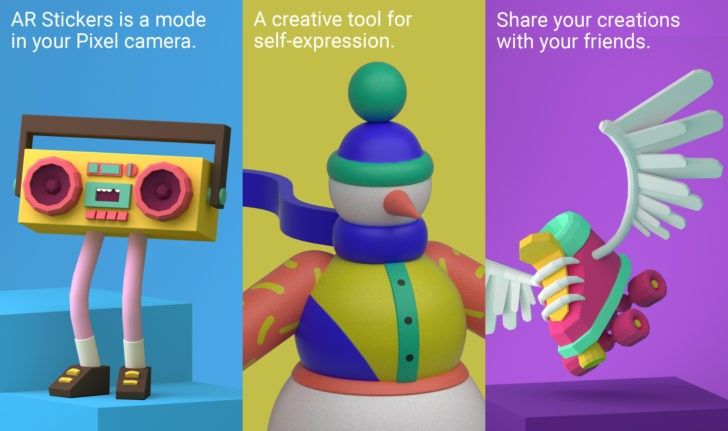 Google adds 'Winter Sports' and 'Blocks' AR stickers to Pixel camera [APK Download]