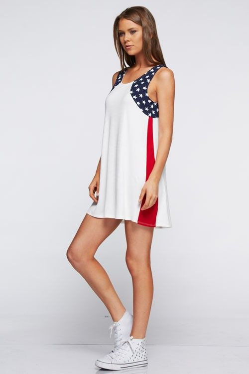 American Glory Summer Tunic Dress for 4th of July | Fashionallo