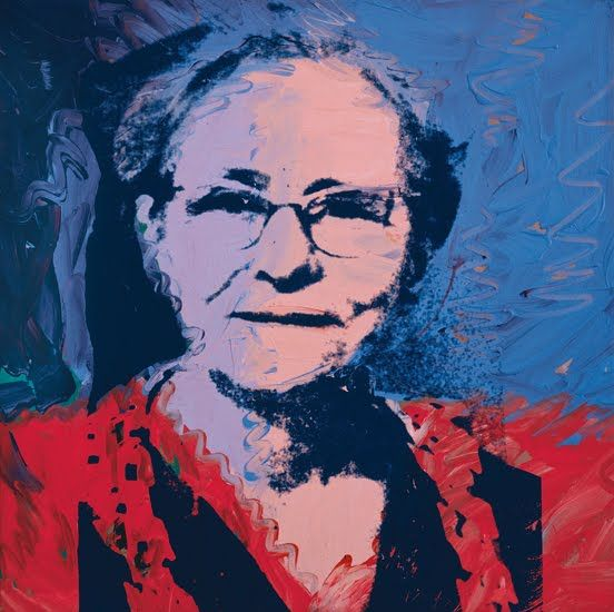 """Andy Warhol's painting of his Mom from """"Paintings Of Mom by 33 Famous Artists For Mothers Day."""" #warhol #andywarhol"""