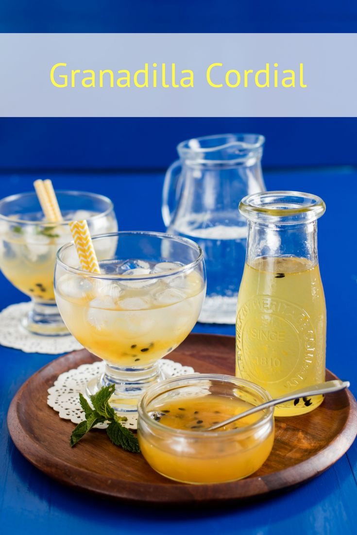 Granadilla Cordial Recipe. Sweet and refreshing, this home made granadilla cordial is all you need to keep your family cool in the summer heat. It's a delicious twist that can be enjoyed with ice, soda or sparkling water.