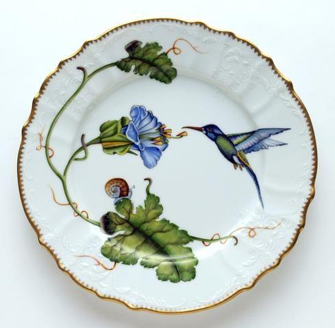 ✿ڿڰۣ(̆̃̃•Aussiegirl  Hummingbird dinner plate by Anna Weatherley.