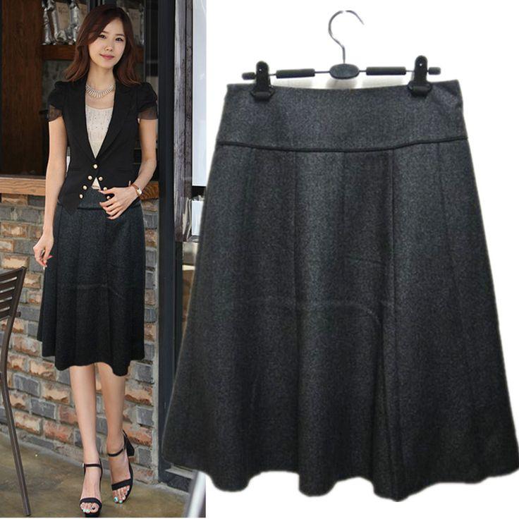 Осень и зима женская одежда наполовину юбка средней длины Большой размер за линия юбки,ML Xl, Xxl, Xxxl, Xxxxl купить на AliExpress