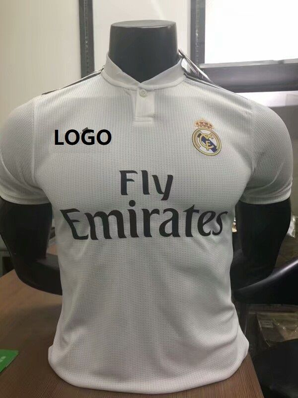387a74e8c 18 19 Men Real Madrid Home Player Version Soccer Jersey