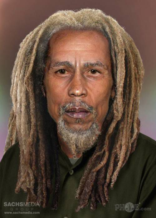 How Famous Rock Stars Would Look Today If They Were Still Alive * Bob Marley :