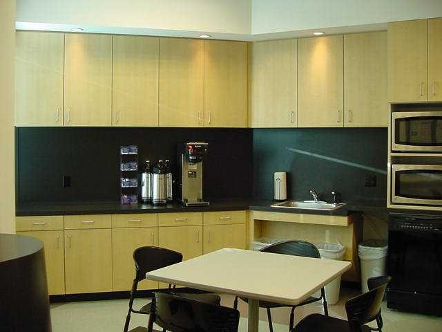 Bright lunch room commercial office break room designs for Office lunch room design ideas