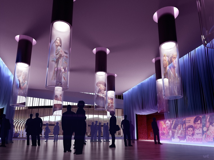 Competition Entry For A New Bollywood Museum In Film City Mumbai Design And Rendering ConceptsInterior