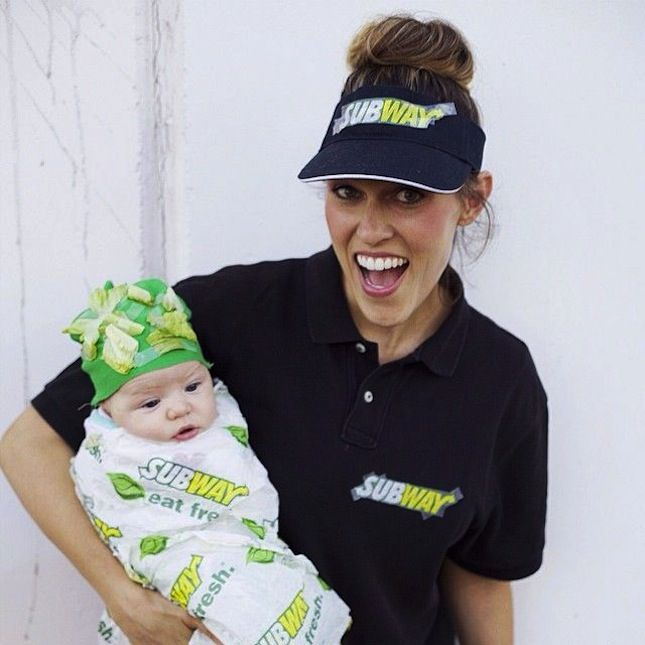 This Subway costume is perfect for you and your little one.
