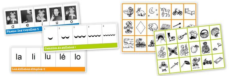jeux boites à compter : compter les syllabes, repérer des lettres , des sons
