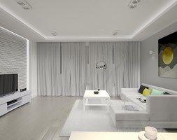 Aranżacje wnętrz - Salon: Mieszkanie w Zgierzu 3 - Salon, styl minimalistyczny - blok studio. Przeglądaj, dodawaj i zapisuj najlepsze zdjęcia, pomysły i inspiracje designerskie. W bazie mamy już prawie milion fotografii!