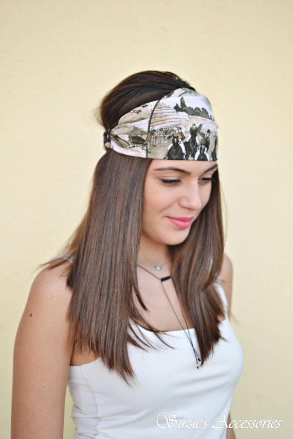 Cotton Headband Green Headband Running by SuzannasAccessories