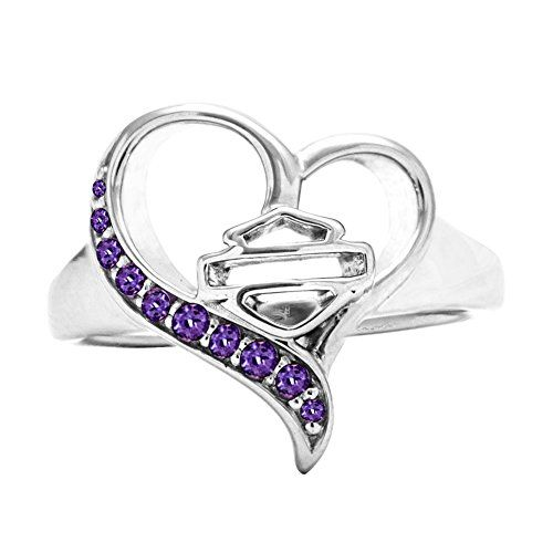 Harley-Davidson® MOD® Purple Rebel Heart Ring HDR0367 (6) | bikeraa.com