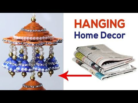Newspaper Wall Hanging Wind Chime Craft Best Out Of Waste Material Ideas Decoration Make