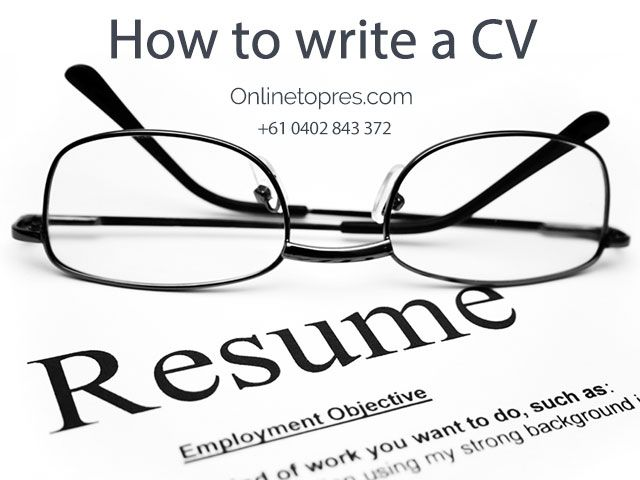 Create a professional resume. If you're thinking about hiring a professional resume writer, then you can contact OnlineTopres.com that provides professional CV writing service in Australia. We provide best resume services at every stage of your career!