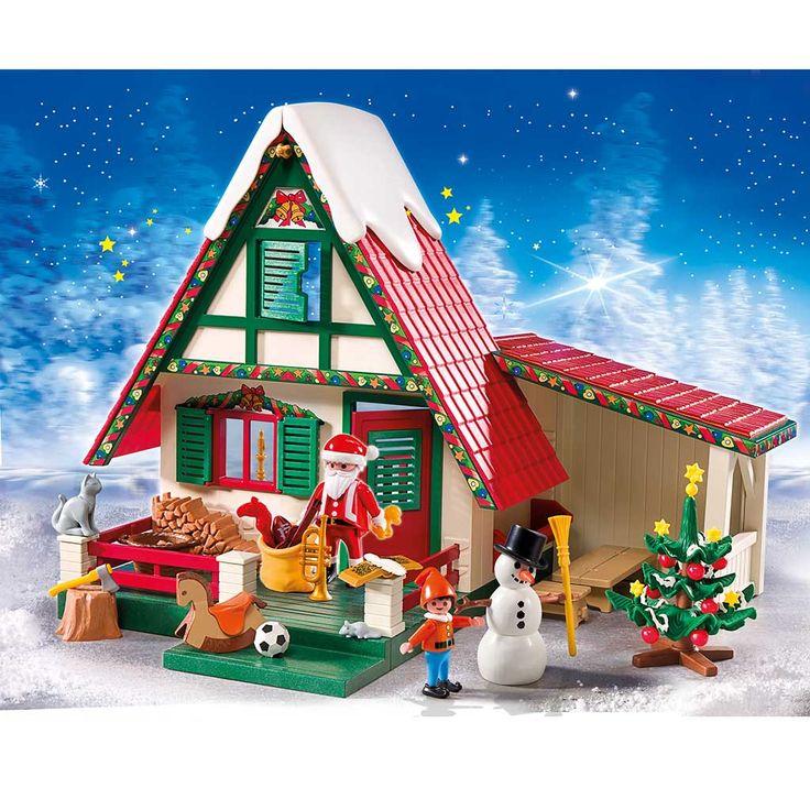 Cartoon Santa House North Pole Amazon Com Playmobil
