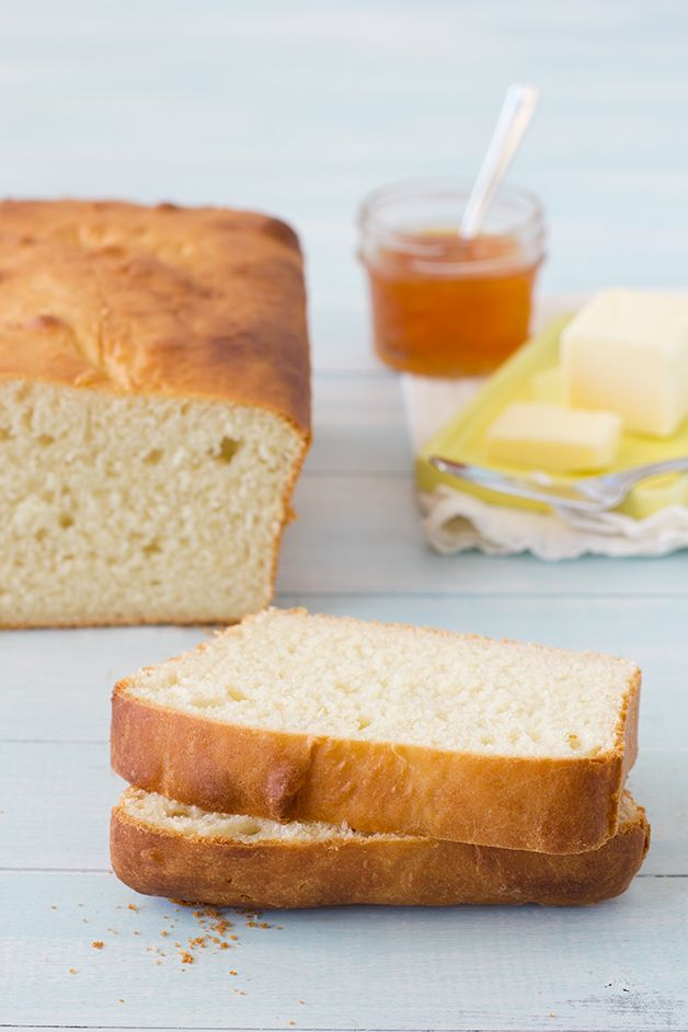 Sally Lunn Bread - a simple, no-knead recipe for an incredibly light, fluffy, and airy bread.
