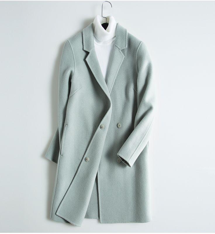 Plus Size Winter Simple Long Sheep Wool Pink White Gray Coats Womens Casaco Feminino Manteau Doudoune Femme Abrigos Mujer Largo