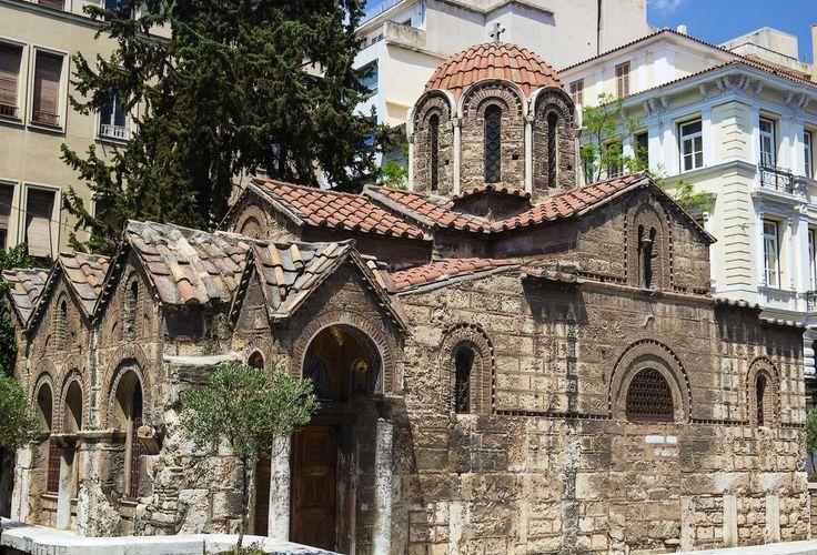 The Church of Panaghia Kapnikarea on Ermou street, Athens