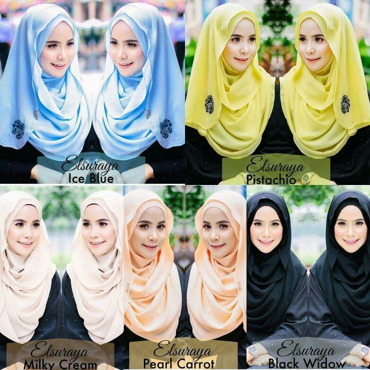 Simple, pretty and elegant Elsuraya Hijab. Material from high quality chiffon georgette.  Open for PO. Pls PM for orders, tq deariez.  #hijab #muslimah #tudung #shawl #singaporehijab