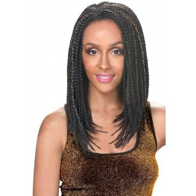 Zury Sis Afro Braid Lace Front Wig BOB BOX (Individually Hand Braided)