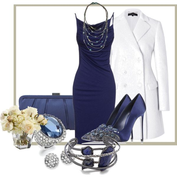 """""""Navy & White"""" by momfor2girls on Polyvore"""