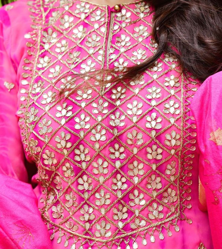 Pink Georgette Printed Stitched Salwar Kameez With Dupatta