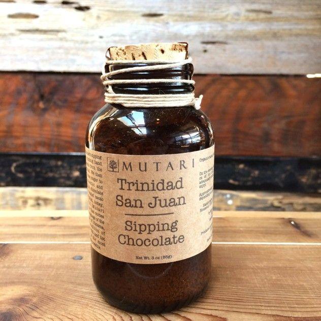 Trinidad San Juan Single Origin Chocolate (Sipping Chocolate) by Mutari Hot Chocolate.
