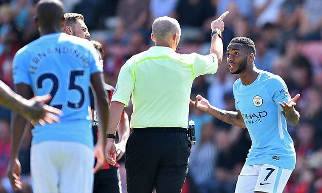 Man City: Pep Guardiola questions Raheem Sterling red card
