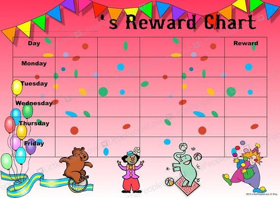 a fun reward chart suitable for home  pre school or school  this chart comes with a matching set