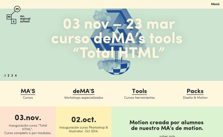 http://www.mrmarcelschool.com/ Mr. Marcel School. Beautiful color palette. Nice Grid