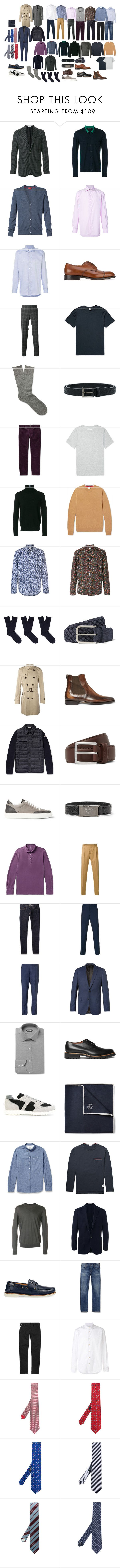 """Базовый мужской гардероб"" by alex9668 on Polyvore featuring Boglioli, Joseph, Isaia, Brioni, Church's, Fashion Clinic, Yves Saint Laurent, Officine Générale, Paul Smith и Loro Piana"