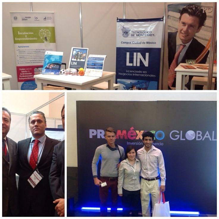 Participación de la Carrera de Negocios Internacionales del ITESM Campus Ciudad de México en el evento ProMéxico Global en el World Trade Center en la Ciudad de México