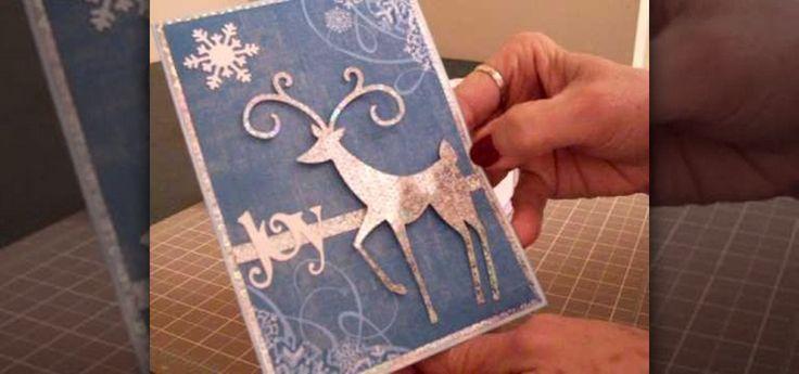 How to Make a Christmas card using Cricut Winter Woodland
