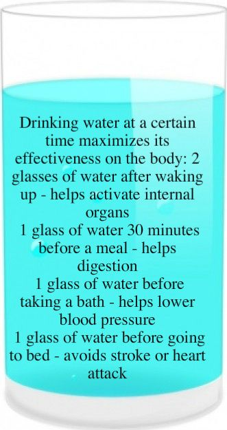 When to drink water for good health.