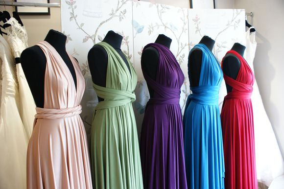 Rainbow bridesmaids - I think I kinda like this idea. One of each three colors I plan to use. It's a thought...