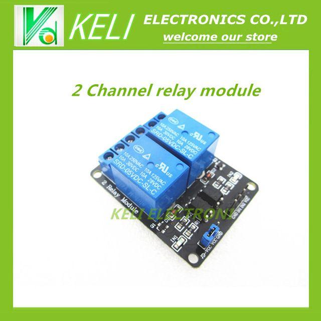 Livraison Gratuite 1 PCS/LOT 5 V 2 Canaux Relais Bouclier Module pour Arduino ARM PIC AVR DSP Électronique