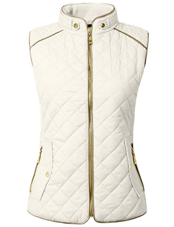 7a19624c9976 NE PEOPLE Womens Lightweight Quilted Zip Jacket/Vest at Amazon ...