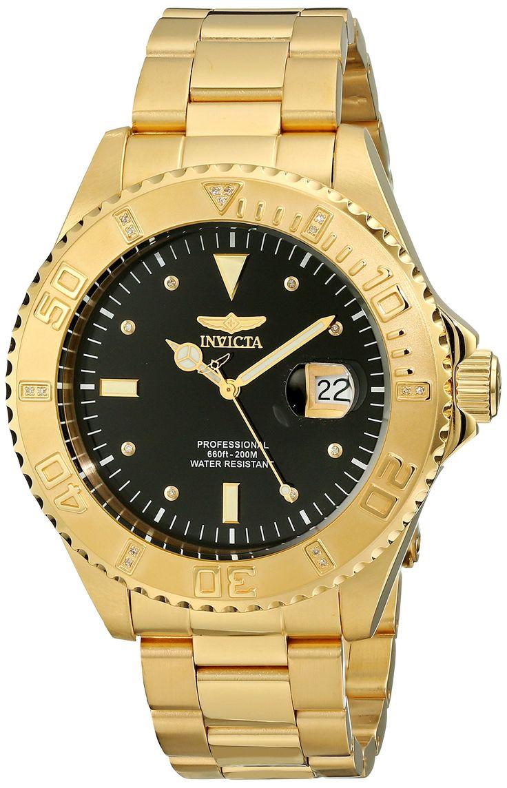 Invicta Herren Armbanduhr XL Analog Quarz Edelstahl Beschichtet 15286:  Amazon.de: Uhren