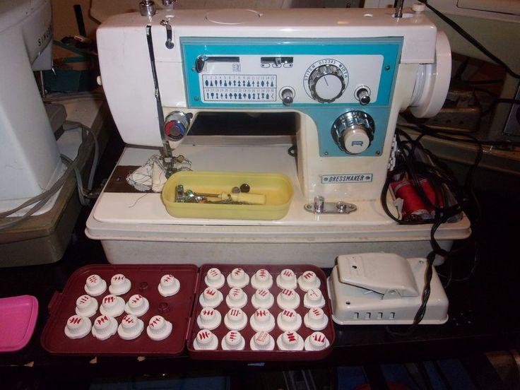 Vintage Dressmaker  Sewing Machine Heavy Duty Zig Zag Embroidery Rare Tested #Dressmaker