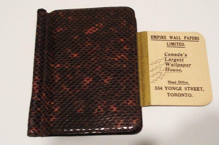1938 Letts Pocket Diary Empire Wall Paper Toronto Advertising Canada by okanaganvintage on Etsy