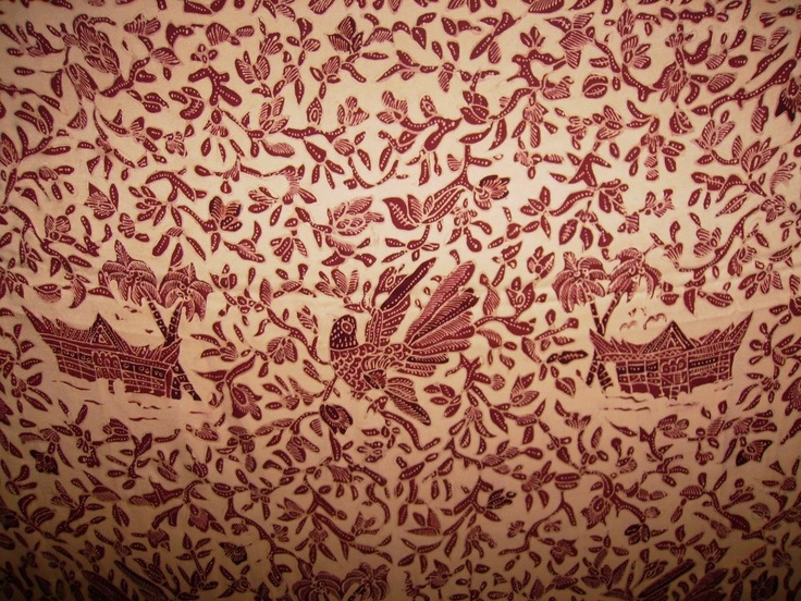 Rumah Gadang pattern #batik #tanahliek #minang #heritage