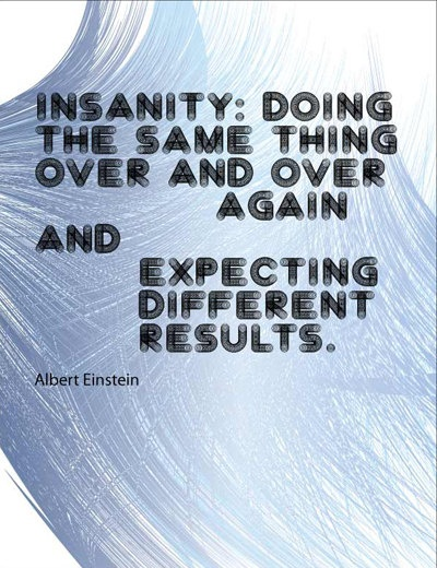 Albert Einsten Expecting different results print by TinyTomatoInc, $5.99
