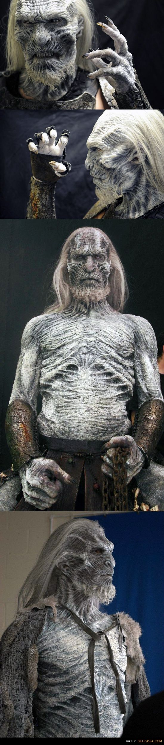 Game of Thrones - Le maquillage impressionnant du marcheur blanc réalisé par Creature Inc. Ltd