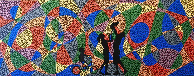 "For Sale: My world by Kruti   $300   30""w 12""h   Original Art   https://www.vangoart.co/kruti-shah/my-world-98caa4ae-6777-4e30-9ef1-3872736fd4d0 @VangoArt"