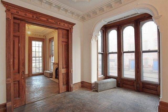 Brooklyn new york brownstone condo interior woodwork by for New york brownstone interior design