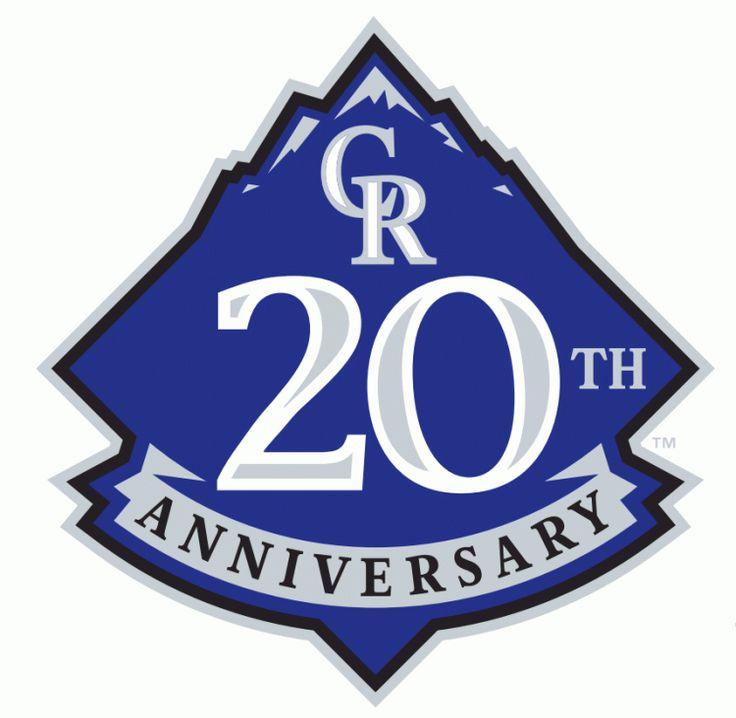 colorado rockies   Colorado Rockies Anniversary Logo (2013) - Colorado Rockies 20th ...