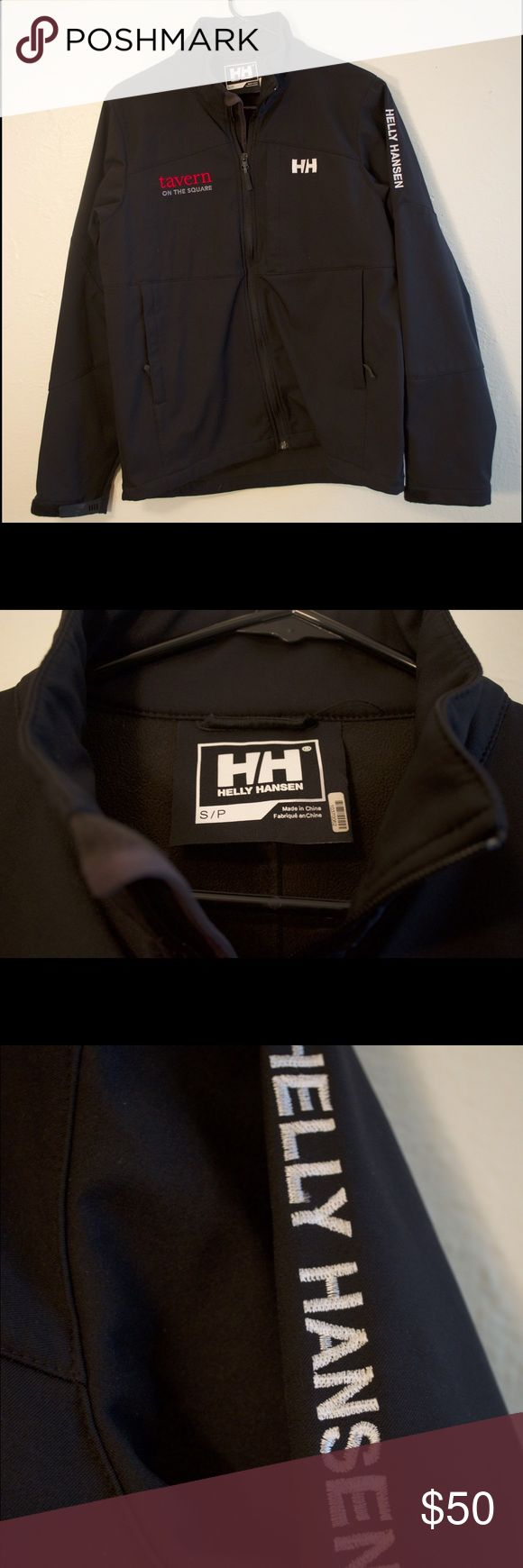 Helly Hansen women's small rain coat Helly Hansen coat. Fits a little loose on size small. Super comfortable and great for just a chilly wet day. It has a restaurant name on it from Vail, Colorado. Still a great coat. Helly Hansen Jackets & Coats Utility Jackets
