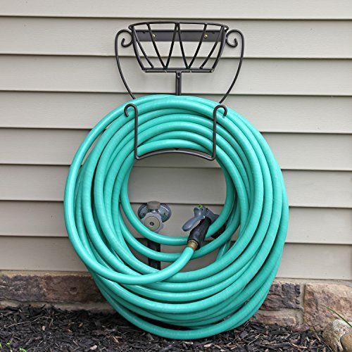 Best Price On Garden Hose Holder. Wall Mount Hose Hanger Including Spray  Nozzle. See