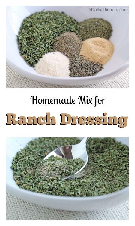 Homemade Ranch Dressing Mix | 5DollarDinners.com